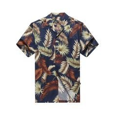 Cotton, Comfortable Fit, Easy Care Made In Hawaii Matching Pocket on left chest Coconut Buttons Same Pattern, Different Style Available 3 Colors Available Men's Shirts, Printed Shirts, Miss Hawaii, Leaf Man, Aloha Shirt, Summer Prints, Tropical Leaves, Types Of Collars, Mens Clothing Styles
