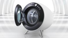 Beautiful Design Finally Fulfills the Washer's Round-Machine Destiny The most beautiful washing machine everWasher Washer may refer to: Hide Wires, Industrial Design Sketch, Futuristic Design, Machine Design, Minimal Design, Cool Gadgets, Washer, Washing Machine, Inventions