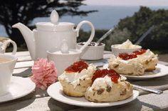 Cream Tea at Ludgvan, Cornwall England