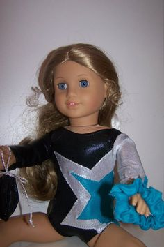 American Girl Doll Gymnastic Leotard -New/Gift Handmade.  lilfliprz's etsy shop.        Too stinking cute!