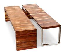 B006 - Obbligato flat timber benches