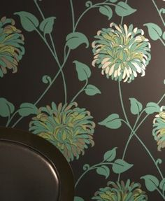 Chrysanthemum Wallpaper...... by Linda Barker LOVE this wallpaper!!! For kitchen?