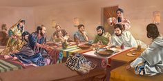 Jesus has a Meal at Simon's House in Bethany on Saturday Nisan 9, Five Days Before the Passover & the Memorial of His Death (The Last Supper)