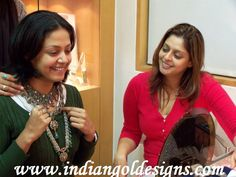 Emerald jewellery designs: Jyothika