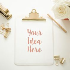 Clipboard Mockup | Gold Accessories by TwigyPosts on Creative Market