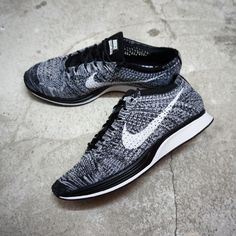 NewArrival Nike Flyknit Racer - Oreo 2.0 526628-012 Available at www.kicks- d0b63a7e668