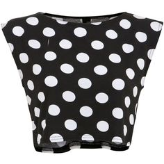 Influence Black and White Polka Dot Boxy Crop Top ($6.19) ❤ liked on Polyvore featuring tops, crop tops, shirts, crop, black pattern, polka dot top, graphic shirts, white and black polka dot shirt, black and white polka dot shirt and print shirts