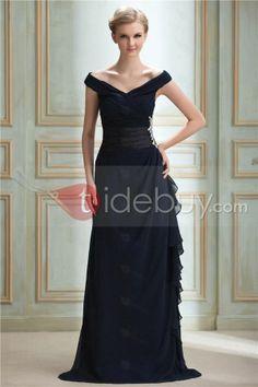 off the shoulder evening dresses | ... Off-The-Shoulder V-Neck Floor-Length Yana's Party/Evening Dress