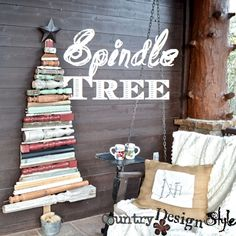 Spindle Tree SQ countrydesignstyle.com Tree made from a collection of old spindles