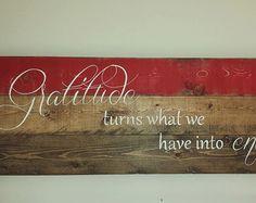 Pallet wall art Gift for her Inspirational wall by TinHatDesigns