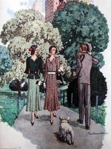 1931- 1930's fashion as seen in McCalls magazine.