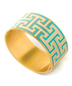 Greek Key Hinged Bangle