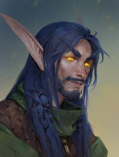 World Of Warcraft Characters, Elf Characters, Fantasy Characters, Elves Fantasy, Fantasy Male, Medieval Fantasy, Final Fantasy, World Of Fantasy, Fantasy Character Design