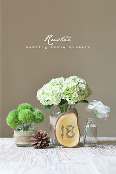DIY Rustic Wedding Table Numbers.