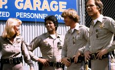 Erik Estrada, Randi Oakes, Robert Pine, Lou Wagner, and Larry Wilcox in CHiPs Chips Series, Larry Wilcox, 80 Tv Shows, Tv Show Casting, Cop Show, Old Tv, The Good Old Days, Movies Showing, Movie Stars