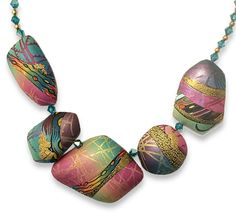 Arlene Groch's Blended Brights polymer clay necklace is in the finals for the 2015 Niche Awards. Arlene's hard to find online but she shared more of her summer creations like this blue beauty on the Philadelphia guild site. You'll also find Lindly Haunani, [...]