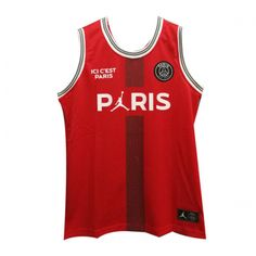 e90192950b8210 PSG×JORDAN Red Basketball Jersey Shirt