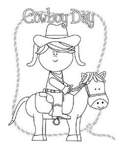 cowboy day coloring pages - Open House Coloring Pages