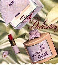 Cyclax Glamotint Ad - detail, 1953