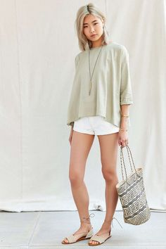Urban Renewal Recycled Side Inset Trapeze Top - Urban Outfitters