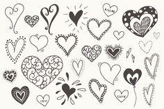 Doodle Hearts Clip Art - Graphics - 3