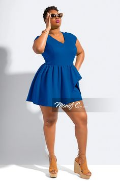"Romper Love With Monif C.'s New Collection! http://thecurvyfashionista.com/2017/04/plus-size-romper-monif-c/ My favorite color- Cobalt Blue! Rompers gone ""Grown & Sexy""? Contemporary plus size designer, Monif C. has done it again and we have the details of her newest collection!"