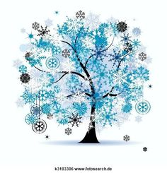 Clip Art - winter- baum, snowflakes., weihnachten, holiday. k3193306 - Suche Clipart, Poster Illustrationen, Zeichnungen und EPS Vector grafische Bilder - k3193306.eps