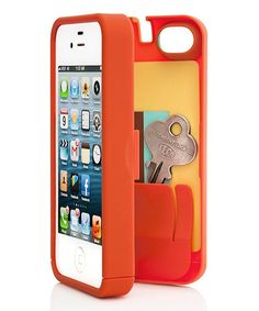 Orange secret stash iPhone case