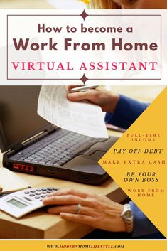 Learn How To Become A Virtual Assistant - Modern Moms Lifestyle Make Money From Home, Way To Make Money, Core Curriculum, Making Extra Cash, New Career, Be Your Own Boss, Virtual Assistant, Online Work, Money Saving Tips