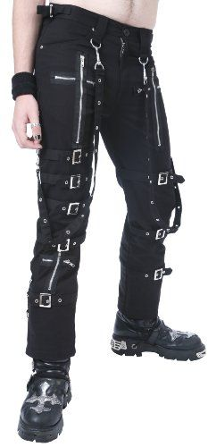 Dead Threads Men's Black Buckle Zips Chains Straps Trousers Cyber Goth Rave (Large) Dead Threads, To enter online shopping Just CLICK on AMAZON right HERE http://www.amazon.com/dp/B00EZ3AB52/ref=cm_sw_r_pi_dp_U54otb103DZH6D9W