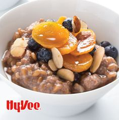 Starting off the day with a hearty breakfast is always a good idea especially when it's with a bowl of Rustic Spelt and Teff Porridge with Fruit. Top it just like a bowl of oatmeal – with your favorite fruits and a sprinkle of brown sugar.