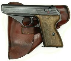 Mauser HSc pistol Manufactured by Mauser during for French occupation troops and later for the civilian market in West Germany. A competitor to Walther's PPK that looks remarkably alike. Fire Powers, Cool Guns, Guns And Ammo, Tactical Gear, Shotgun, Firearms, Survival, Hand Guns, Cool Stuff