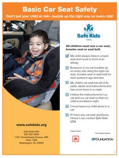 Car Seat Safety Tips | Safe kids, Safety and Baby safety
