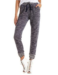 Marled French Terry Jogger Pants #CharlotteRusse #pants #joggers