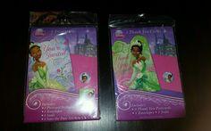 New Disney Princess & the Frog Tiana 8 Invitations & 8 Thank You Cards Save Date #Disney #Tiana #BlackPrincess #Beautiful #BirthdayParty #Decorations #PrincessAndTheFrog