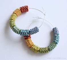 Papercraft Earrings - Amazing Papermode Paper Jewelry Makes a Folded Fashion Satement (GALLERY)