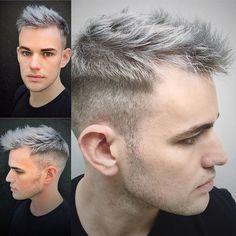 Luces en cabello corto hombre