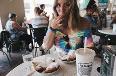 """C H I A R A L I T A on Instagram: """"Visiting my sisters in New Orleans! 🎉 And eating as many beignets as I can ;) @cafedumonde"""""""