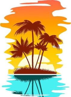 Clipart Palm Tree Island 2 Royalty Free Vector Clip Art Illustration by Seamartini Graphics Abstract Backgrounds, Palm Tree Clip Art, Illustration, Drawings, Beach Scenes, Painting, Art, Tree Drawing, Abstract