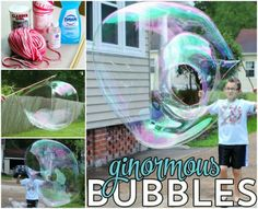 DIY ginormous Bubbles tutorial pro děti Outdoor Fun