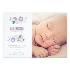 Sweet Arrival   Birth Announcement Invitation Card