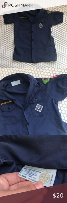 OFFICIAL EXPLORER SCOUT SHIRT UNIFORM SMART LONG SLEEVE ALL SIZES FREE DELIVERY