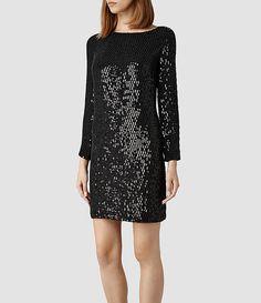 Womens Kika Dress (Aubergine) | ALLSAINTS.com