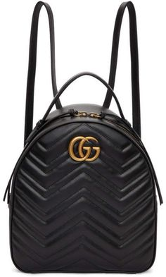 b1960b59f137 Gucci Black GG Marmont Quilted Chevron Backpack  Gucci  cap ShopStyle   MyShopStyle click