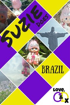 Photos of LoveCandD's travelling mascot as she visits Brazil. A great opportunity for some travel inspiration!