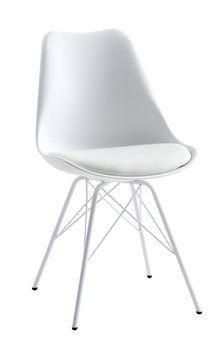 Ruokapöydän tuoli KLARUP keinonahka valk | JYSK 45 EUR