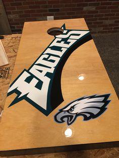 Retro Philadelphia Eagles cornhole board   Ideas   Pinterest ...