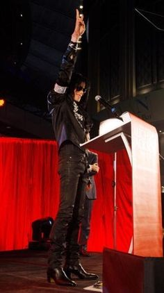 Michael-jackson at his last speach before he died