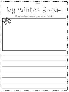 003 Free Primary Writing Papers both with picture and all