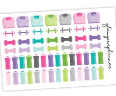 Fitness Stickers - Workout Planner Stickers - Variety Pack